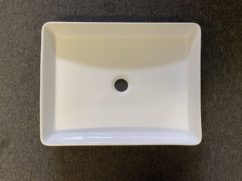 ALBERT SQUARE BASIN-CURVE EDGES-GLOSS WHITE - Bathroom Clearance