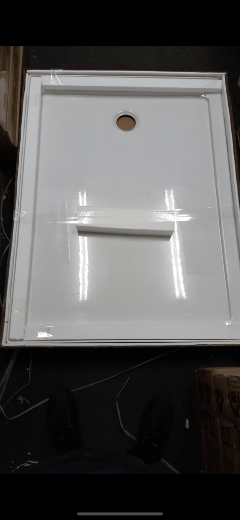 Shower tray 1200 x 900 center waste RIGHT HANDED - Bathroom Clearance