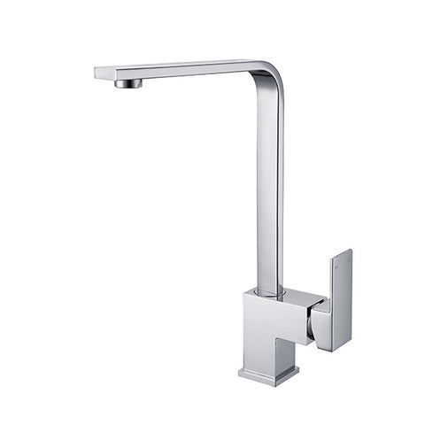 SQUARE KITCHEN MIXER SWIVEL SPOUT - CHROME - Bathroom Clearance