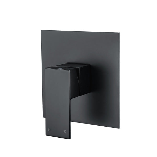 Square Shower Mixer Matt Black - Bathroom Clearance