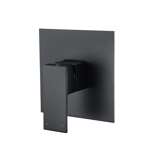SQUARE SHOWER MIXER - MATTE BLACK - Bathroom Clearance
