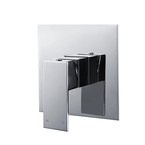 SQUARE SHOWER MIXER - CHROME - Bathroom Clearance