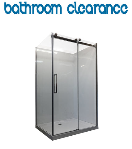 1200 x 800 Frameless Glass shower Enclosure - Bathroom Clearance