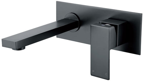 SQUARE BATH SPOUT WITH MIXER - MATTE BLACK - Bathroom Clearance
