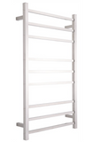 HEATED TOWEL RAIL STAINLESS STEEL - CHROME FINISH 9 BARS SQUARE - Bathroom Clearance