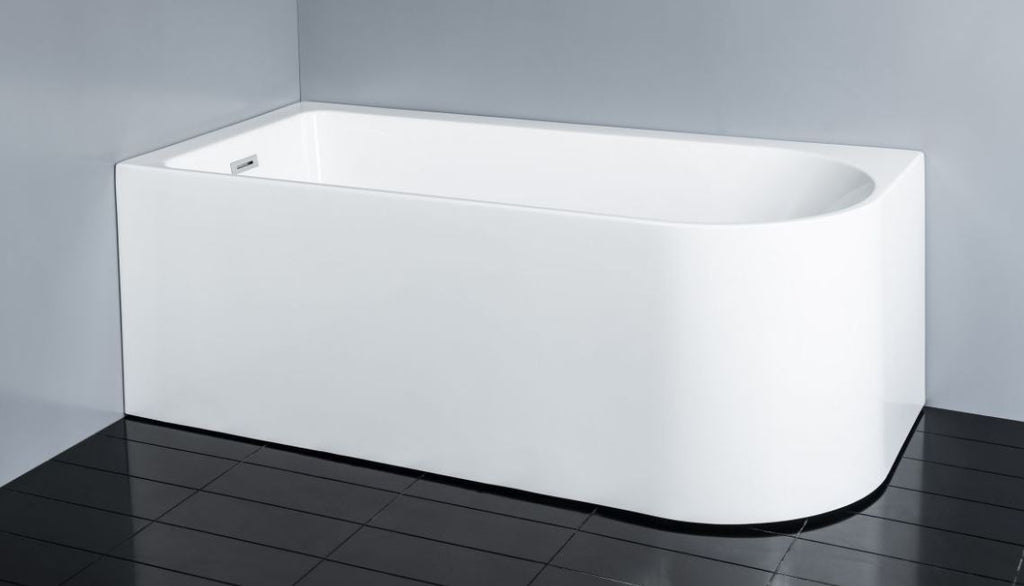 PHOENIX WHITE BACK TO WALL BATHTUB 1700W LEFT HAND CORNER - Bathroom Clearance