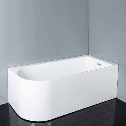 PHOENIX WHITE BACK TO WALL BATHTUB 1700W RIGHT HAND CORNER - Bathroom Clearance
