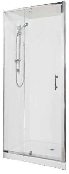 Alcove 900 x 900 Chrome Shower, Center Waste - Bathroom Clearance