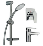 AQUATICA SHOWER SLIDE, SHOWER MIXER AND BASIN MIXER - ALL PRESSURES - Bathroom Clearance