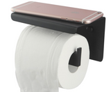 FLAT PLATE TOILET ROLL HOLDER - MATTE BLACK - Bathroom Clearance
