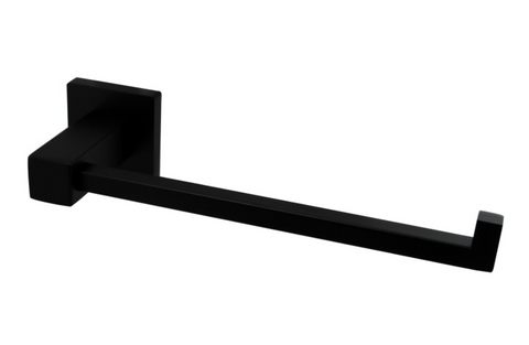 MIRO L-BAR HAND TOWEL HOLDER - MATTE BLACK - Bathroom Clearance