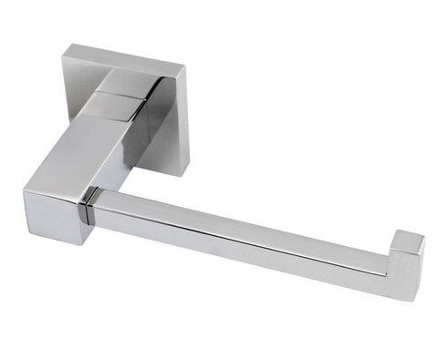 MIRO L-BAR TOILET ROLL HOLDER - CHROME - Bathroom Clearance