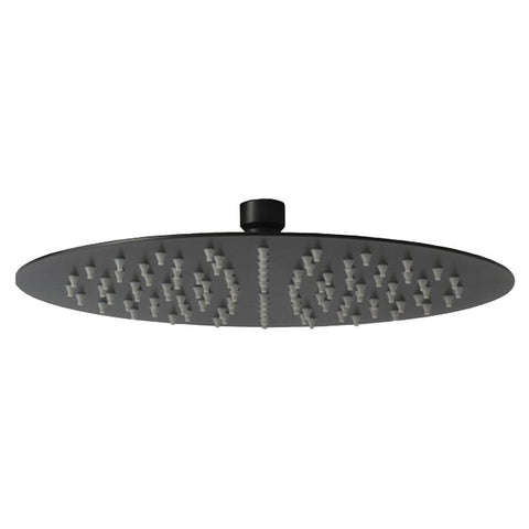 ROUND RAIN HEAD - MATTE BLACK FINISH 300MM - Bathroom Clearance