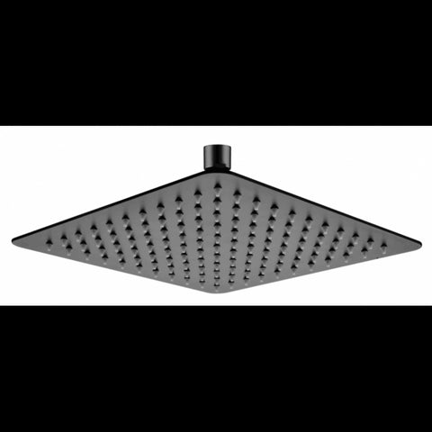 SQUARE RAIN HEAD - MATTE BLACK FINISH 250MM - Bathroom Clearance