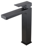SQUARE TALL BASIN MIXER - MATTE BLACK - Bathroom Clearance