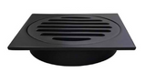 TILE GRATE 110x110MM - MATTE BLACK - Bathroom Clearance