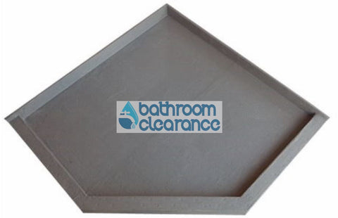 900X900 ANGLE TILE TRAY - Bathroom Clearance