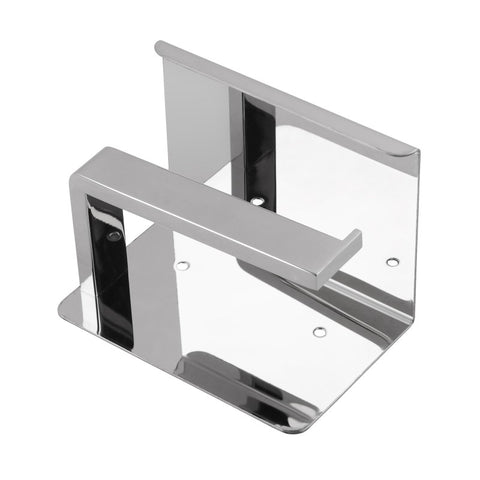 FLAT PLATE TOILET ROLL HOLDER - CHROME - Bathroom Clearance