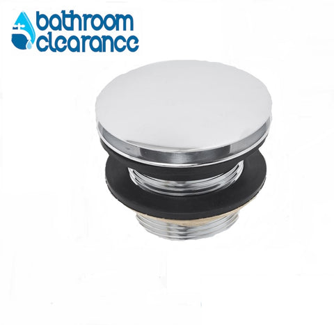 40mm POP UP BATH WASTE CHROME NO OVERFLOW - Bathroom Clearance