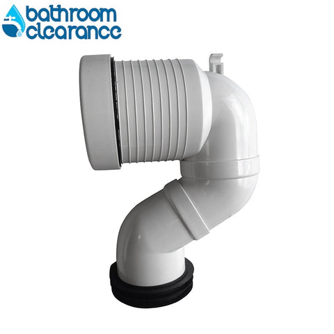 P PAN TO S PAN GOOSE NECK CONNECTOR - Bathroom Clearance