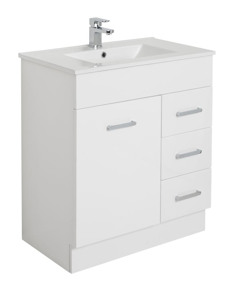 Plywood 750 Floor Standing Vanity with Ceramic Top - Bathroom Clearance