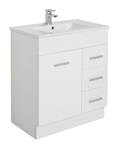 MDF 750 Floor Standing Vanity with Ceramic Top - Bathroom Clearance