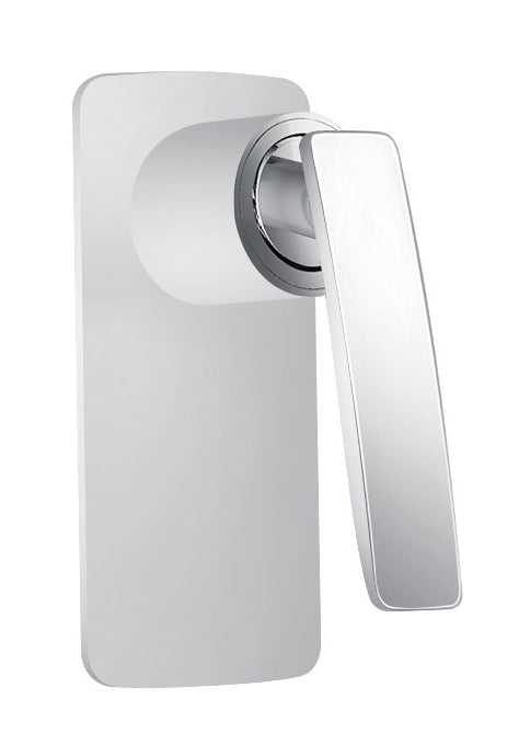CARA SHOWER MIXER - WHITE & CHROME - Bathroom Clearance