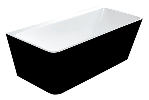 MASSIMO BLACK FREE-STANDING BATHTUB 1500B - Bathroom Clearance