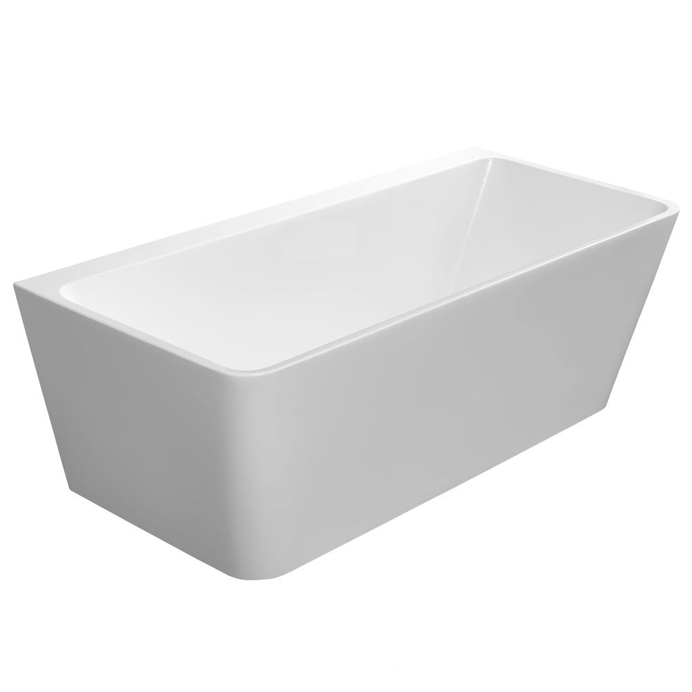 MASSIMO WHITE FREE-STANDING BATHTUB 1500W - Bathroom Clearance