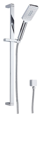 CHROME SQUARE SHOWER SLIDER 3 FUNCTIONS - Bathroom Clearance