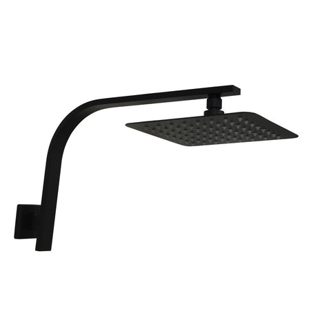 SQUARE RAIN SHOWER HEAD - MATTE BLACK FINISH - Bathroom Clearance