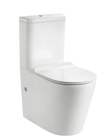 MADISON BACK TO WALL COMPACT TOILET - RIMLESS - Bathroom Clearance