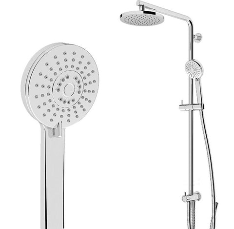 AQUABELLA SHOWER SPLASH  3FUNCTIONS CHROME BOTTOM INLET - Bathroom Clearance