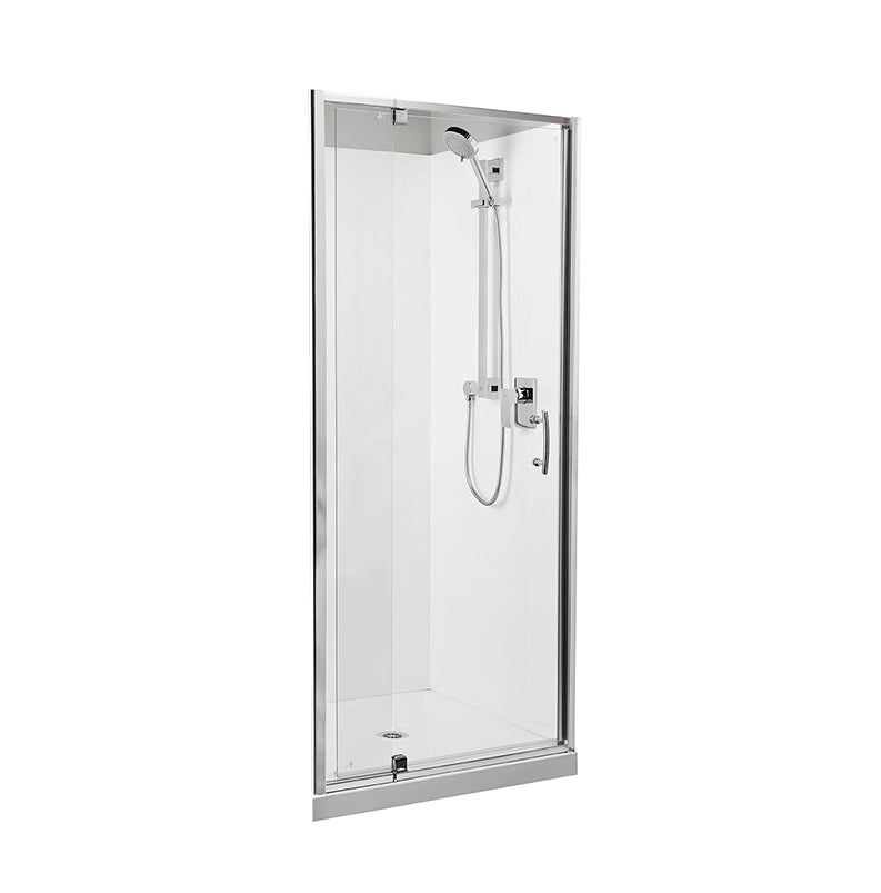 Alcove 1000 x 1000 Chrome Shower, Back Waste - Bathroom Clearance