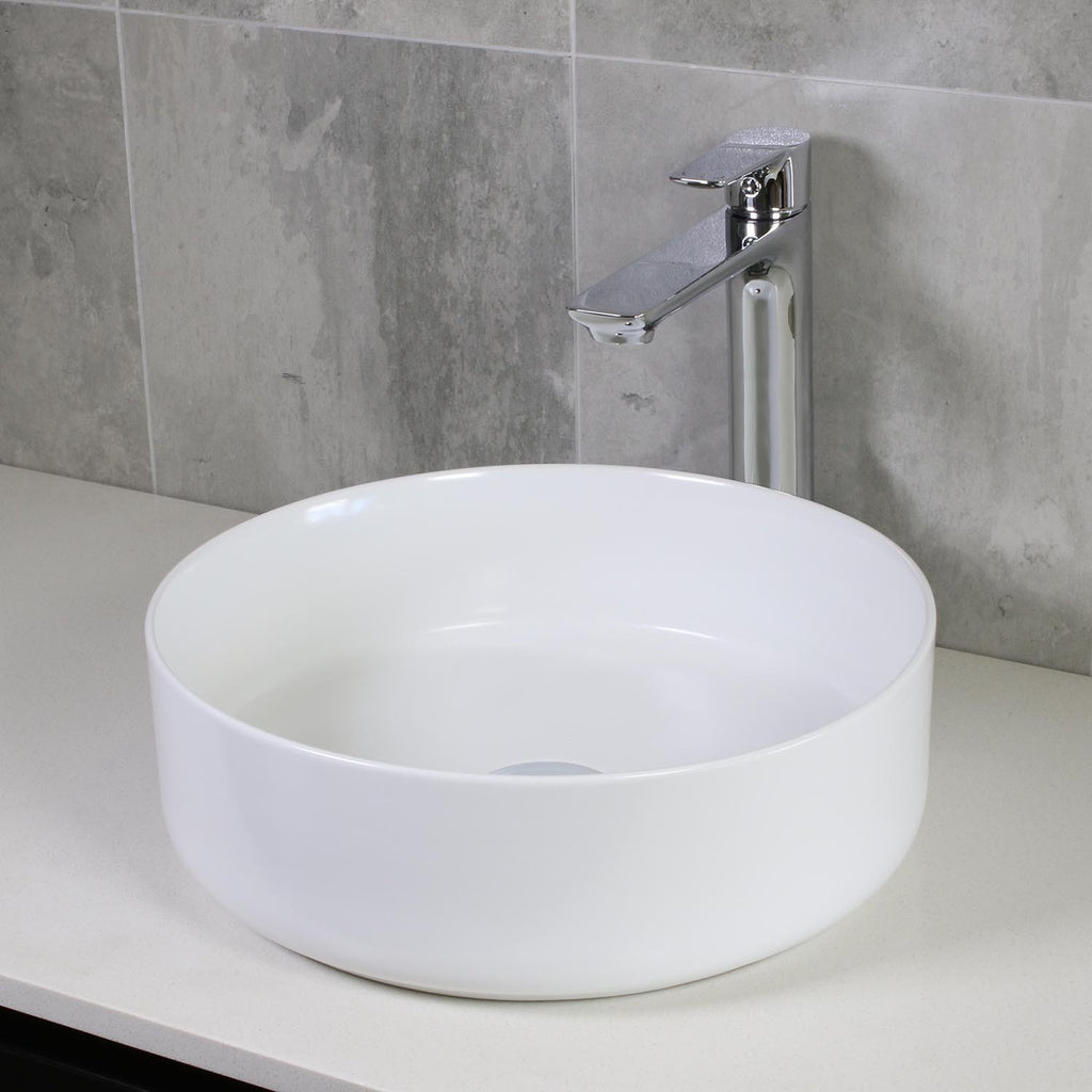 GLOSSY WHITE BASIN 360MM - Bathroom Clearance