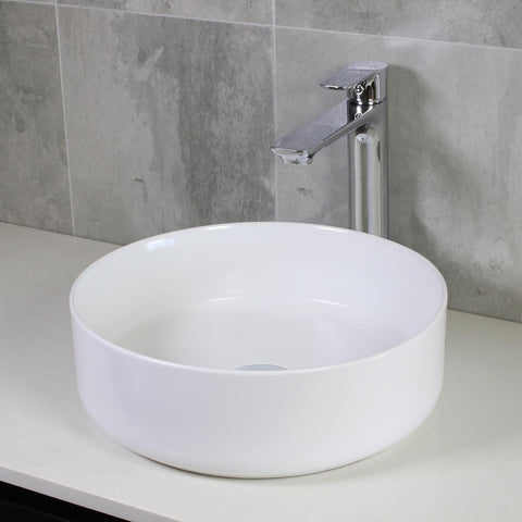 GLOSSY WHITE BASIN 360MM - bathroom-clearance-limited