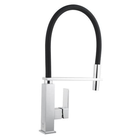 Kitchen Mixer Pull Out Chrome With Black Hose - Bathroom Clearance