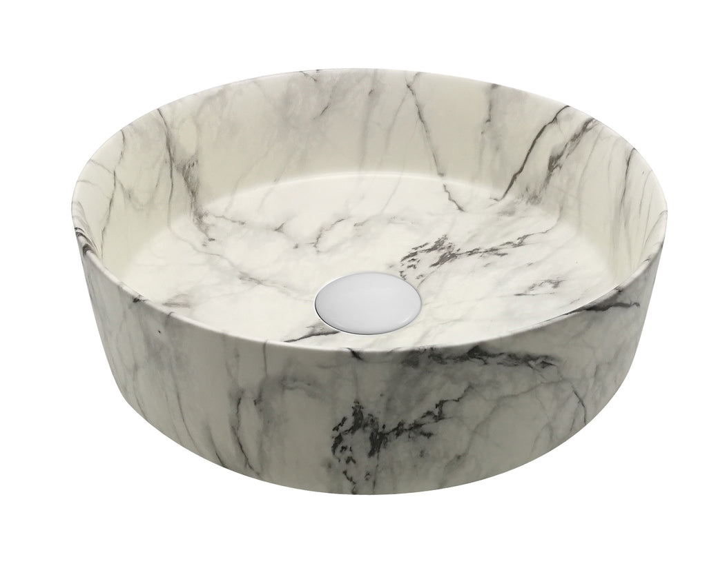 MATTE MARBLE BASIN 360MM - bathroom-clearance-limited
