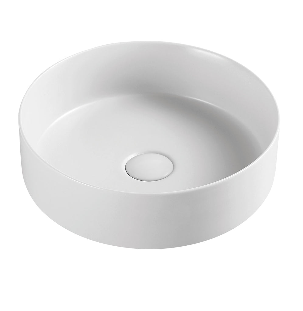 MATTE WHITE BASIN 360MM - Bathroom Clearance