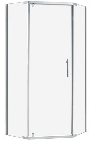ANGLE  1000x1000 SEMI FRAMELESS SHOWER CENTRE WASTE - Bathroom Clearance