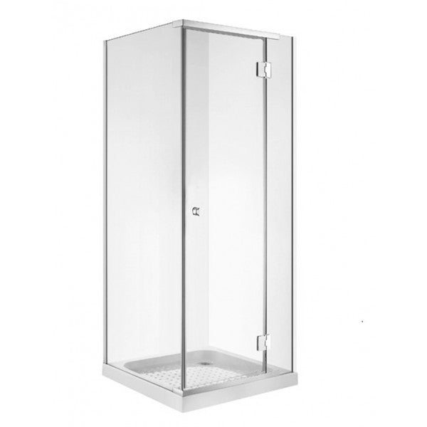 Semi-Frameless Shower 1000 x 1000 Shower 6mm Glass, Corner Waste Tray and Liner - Bathroom Clearance