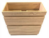 PLYWOOD LIGHT OAK SLIM VANITY 600x360 WITH CERAMIC TOP - Bathroom Clearance