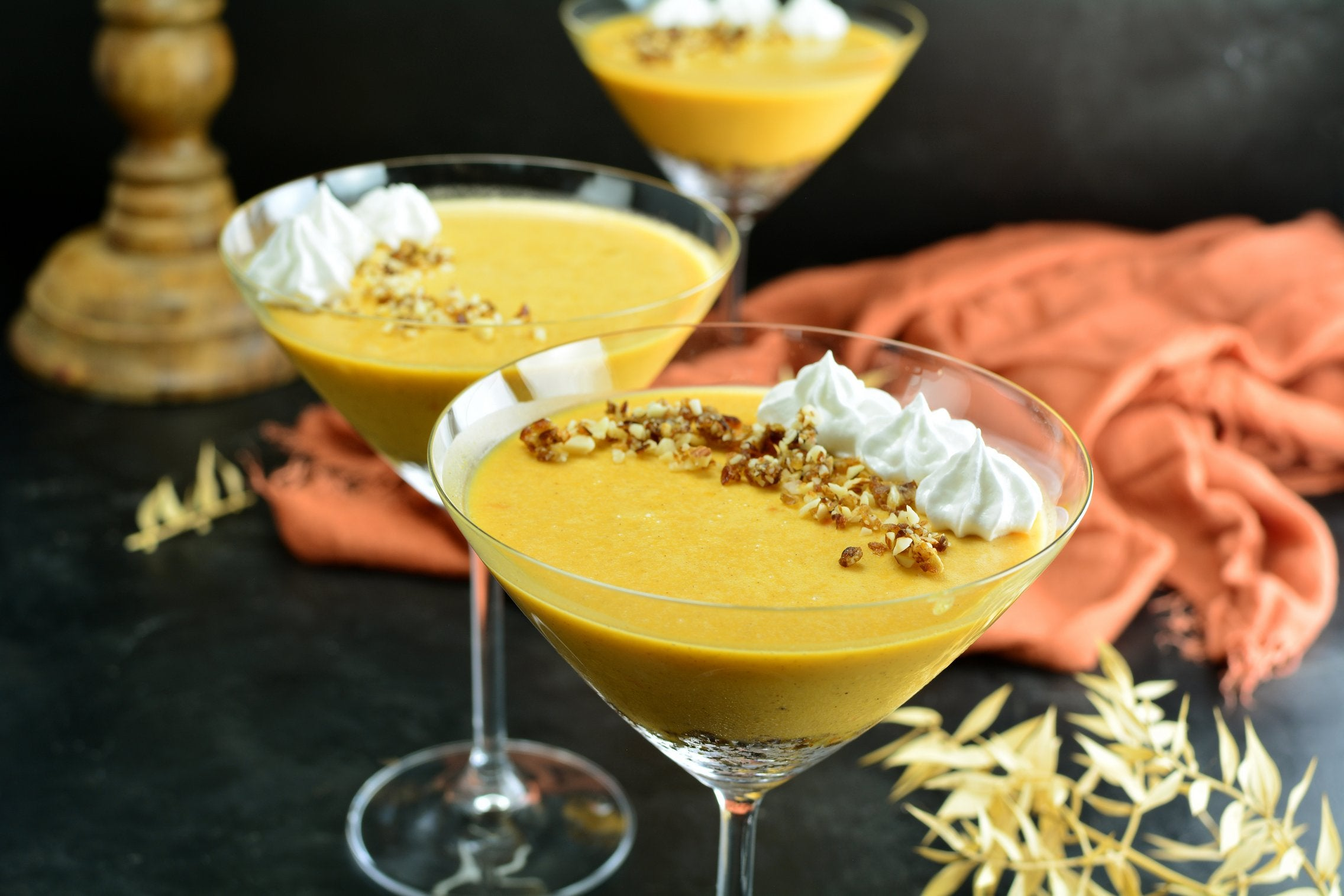 Maca Pumpkin Mousse with Almonds and Dates