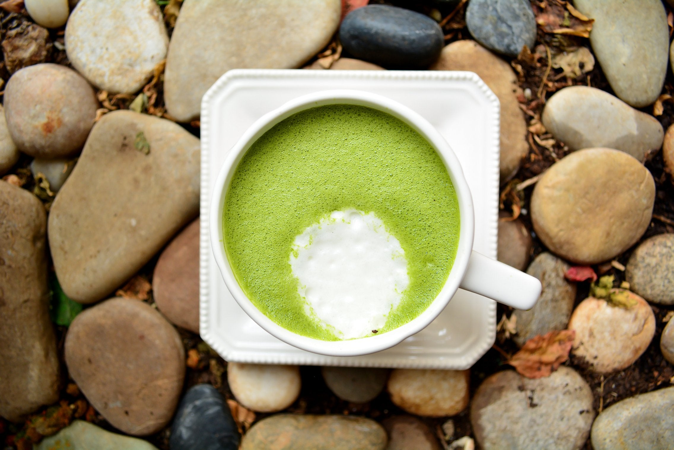 Matcha Latte With Almond Milk And Coconut Nectar