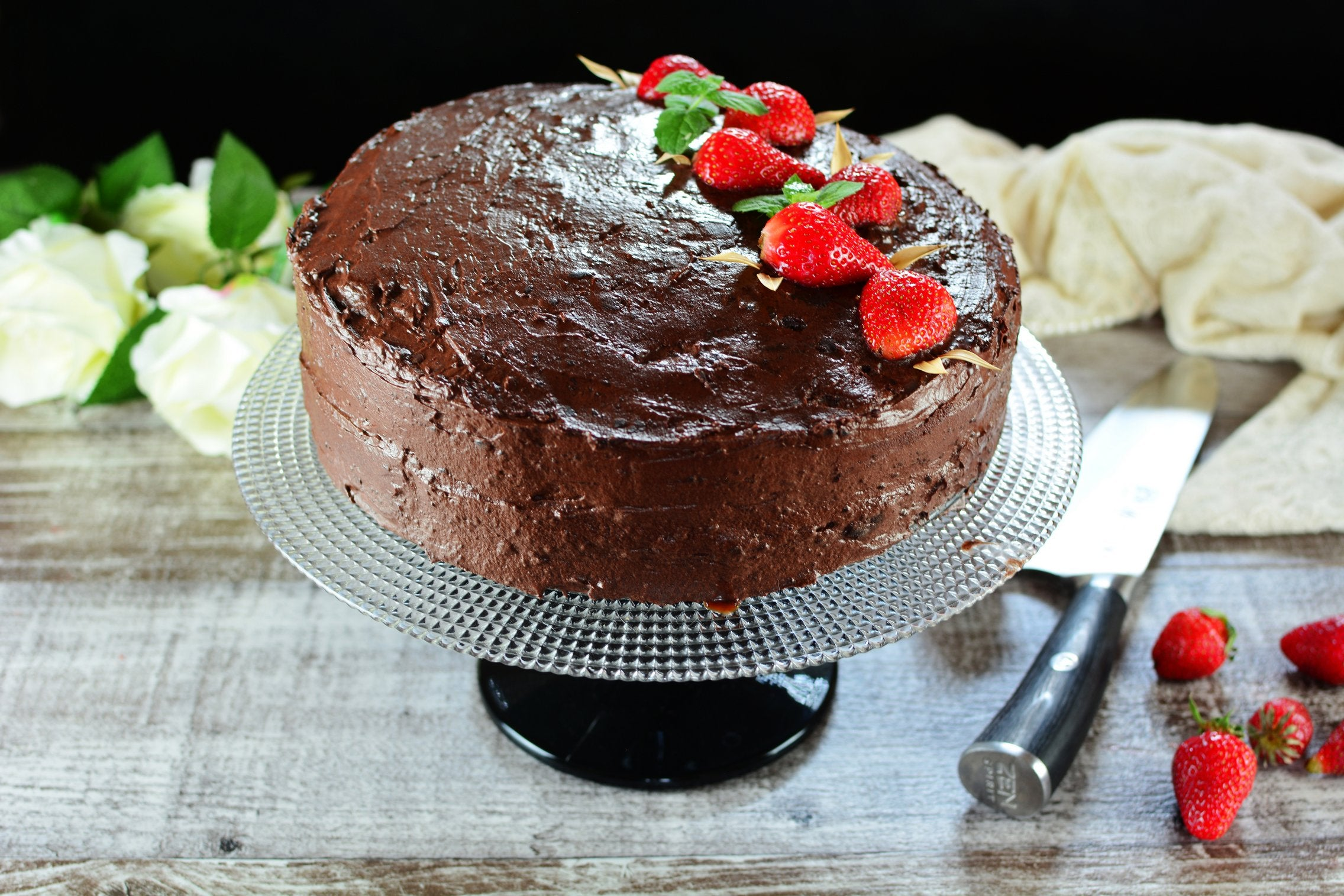 Maca Chocolate Strawberry Cake