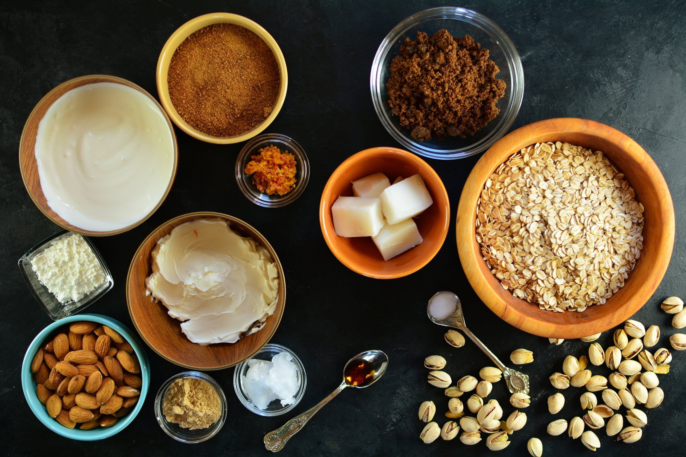 Maca Pistachio Cheesecake - Ingredients