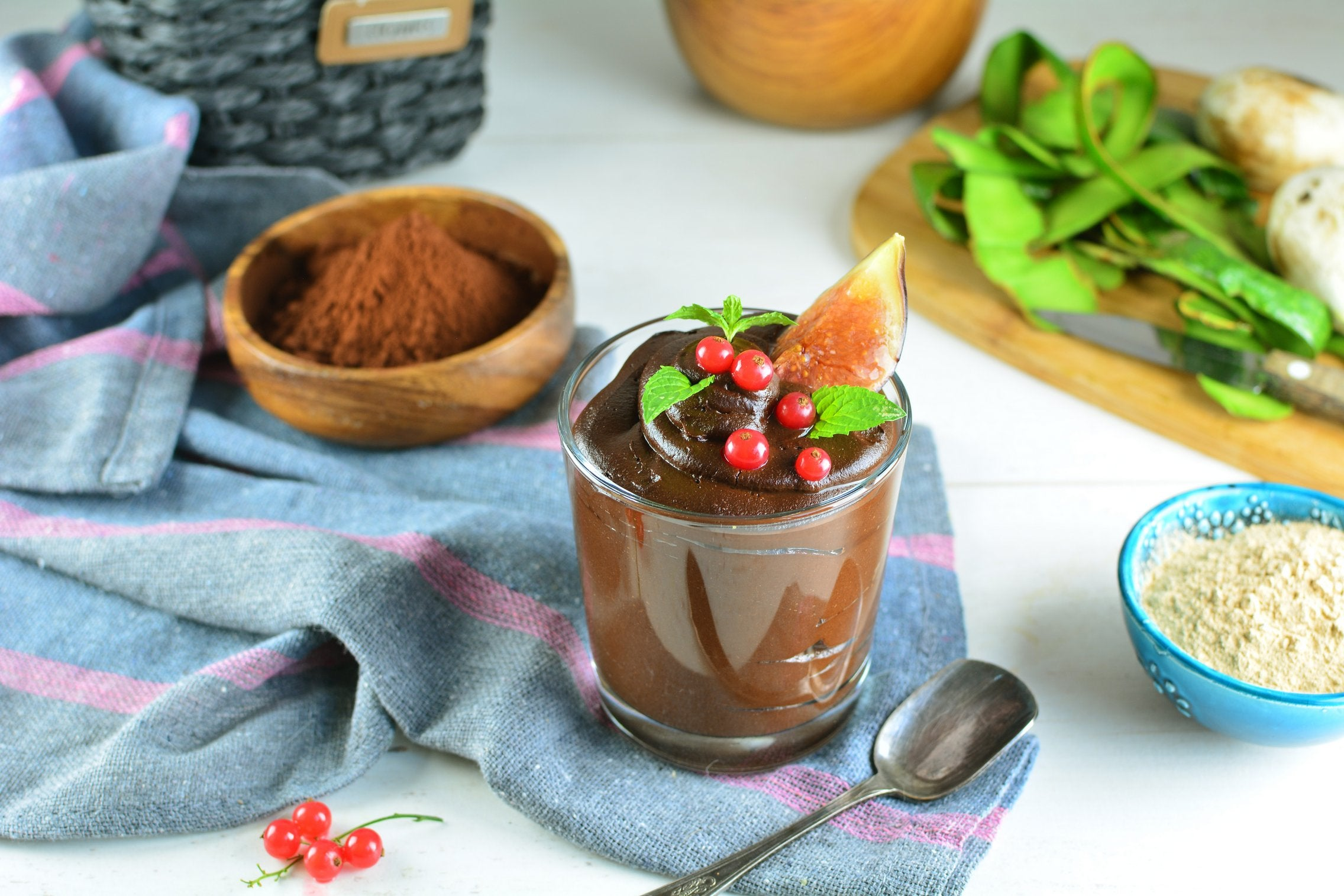 Avocado Maca Mousse with Cocoa