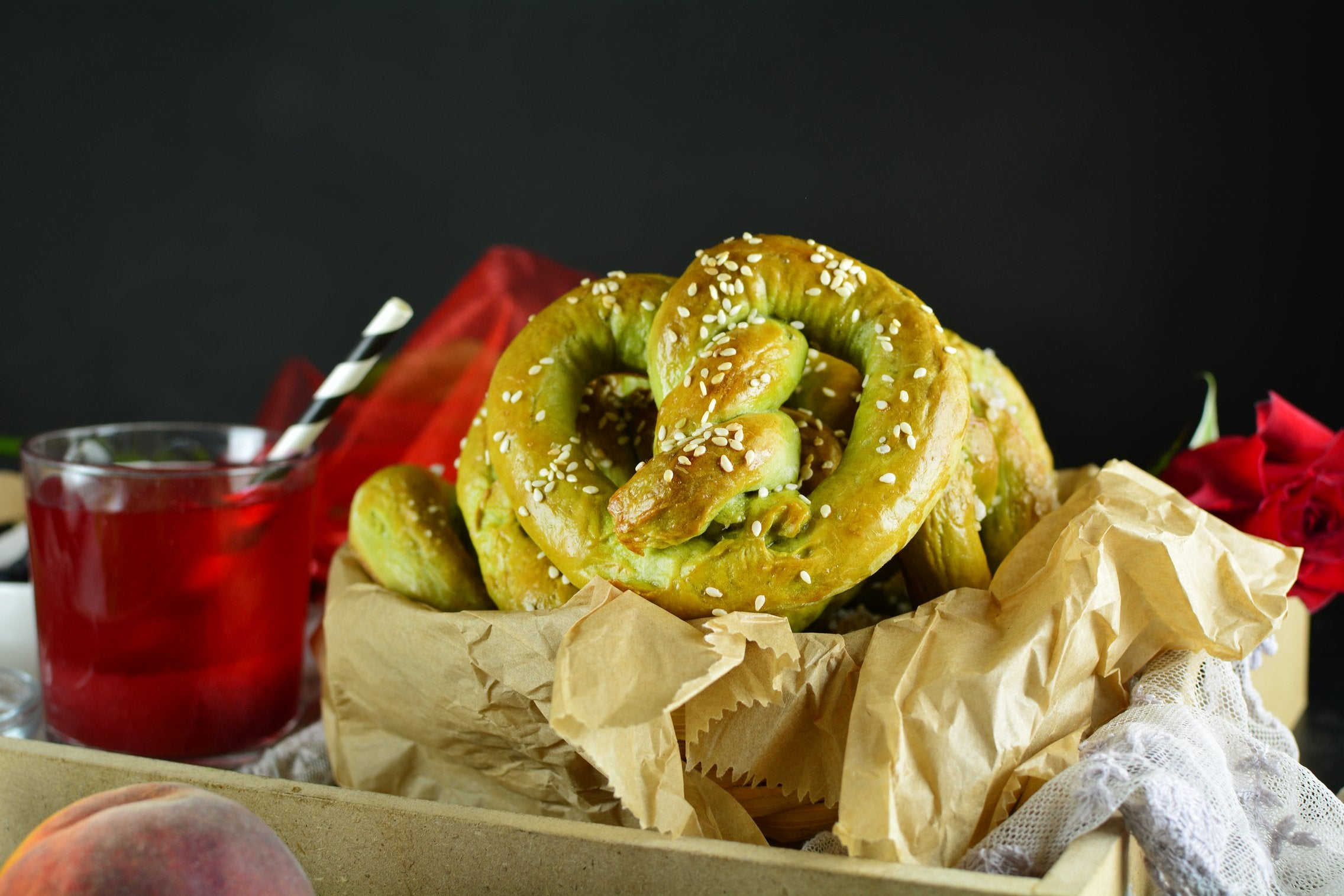 Matcha Green Tea Pretzels