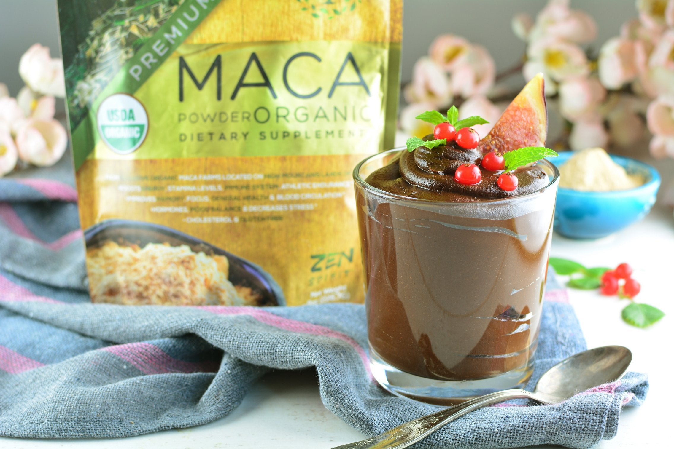 Avocado Maca Mousse with Cocoa final product
