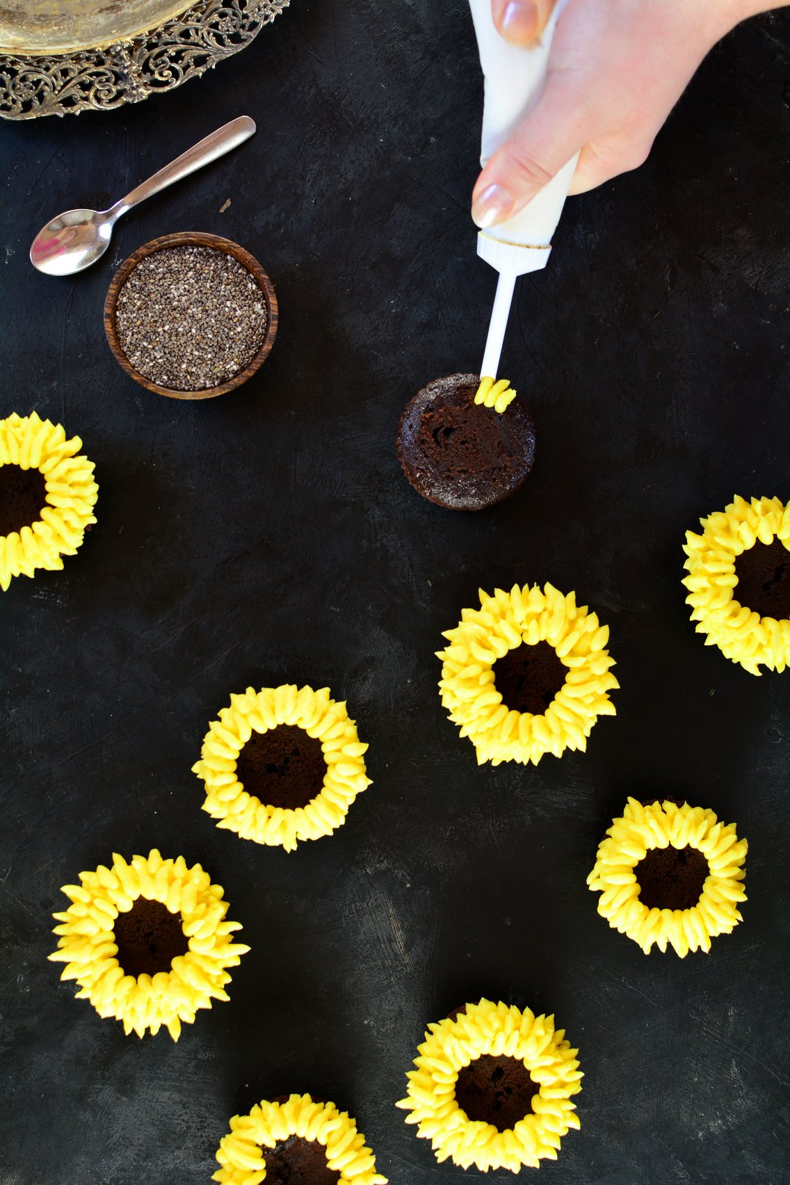 Sunflower Maca Cupcakes - Preparation